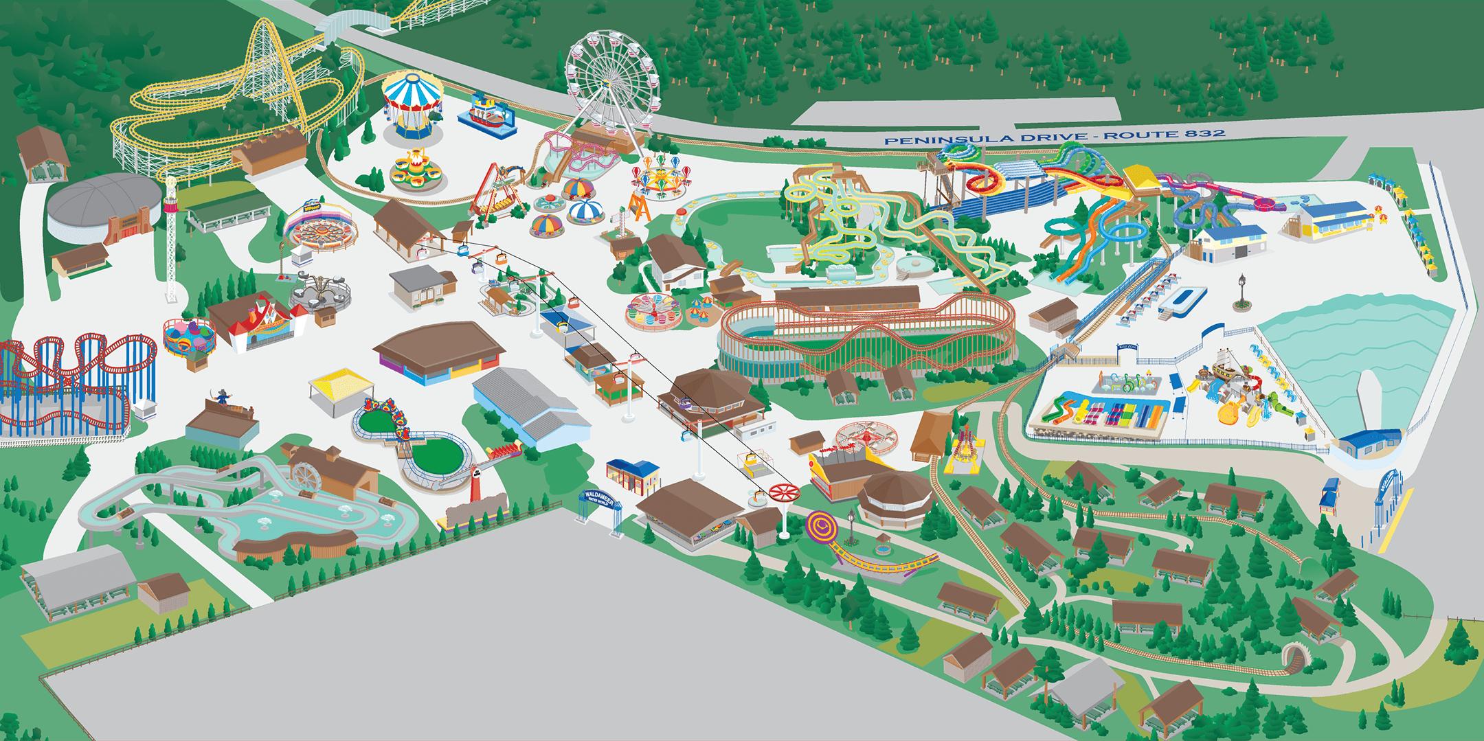 Waldameer Park Map