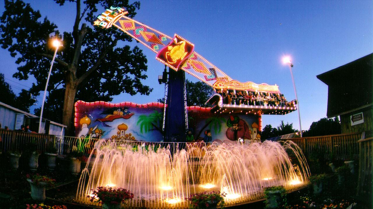 Ali Baba thrill ride at Waldameer Amusement Park