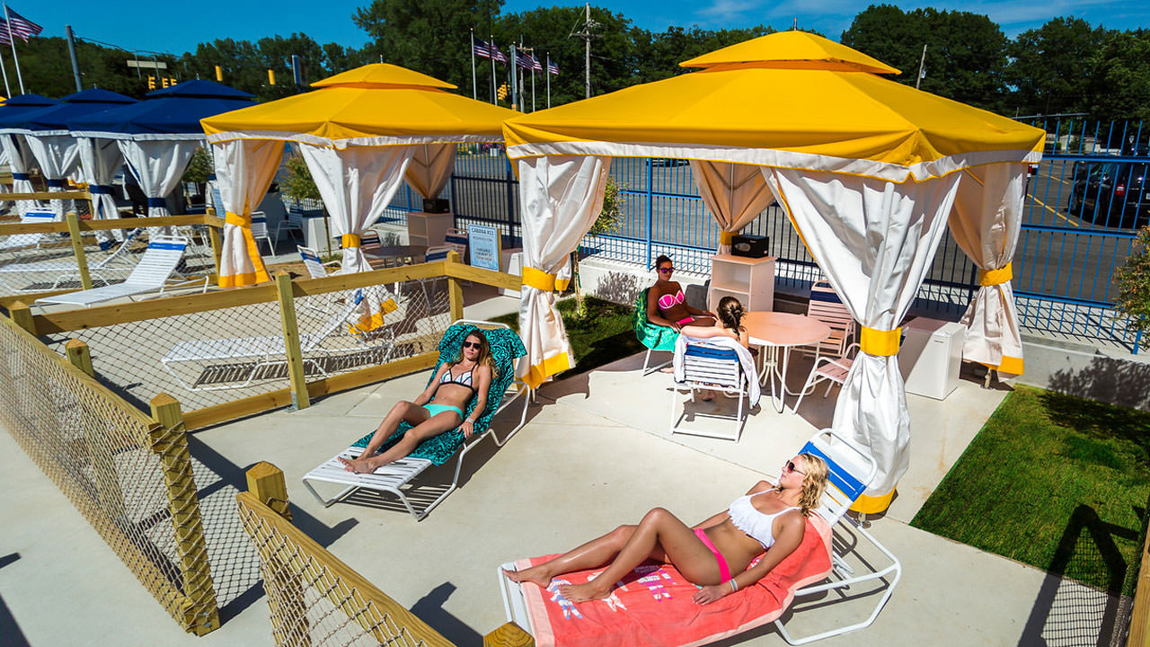 Cabana at Waldameer Park.