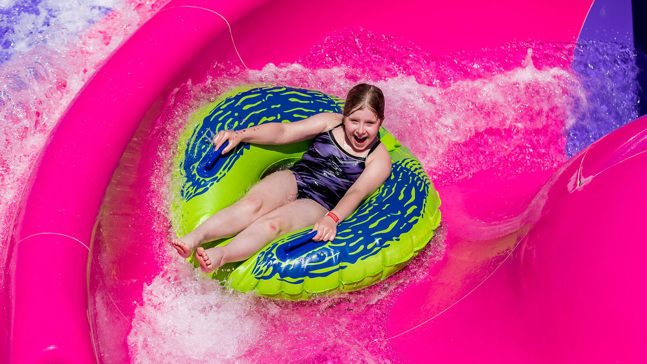 Cannon Bowl water park attraction at Waldameer