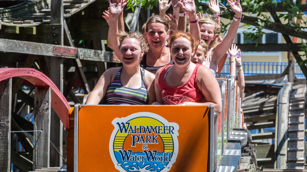 Comet thrill ride at Waldameer Park
