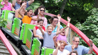 Comet thrill ride at Waldameer Park