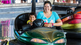 Dodgems family classic ride at Waldameer Amusement Park