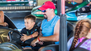 Dodgems family classic ride at Waldameer Amusement Park