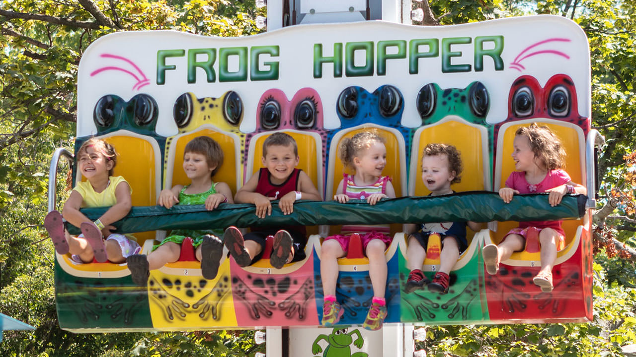 Frog Hopper kiddie ride at Waldameer Amusement Park