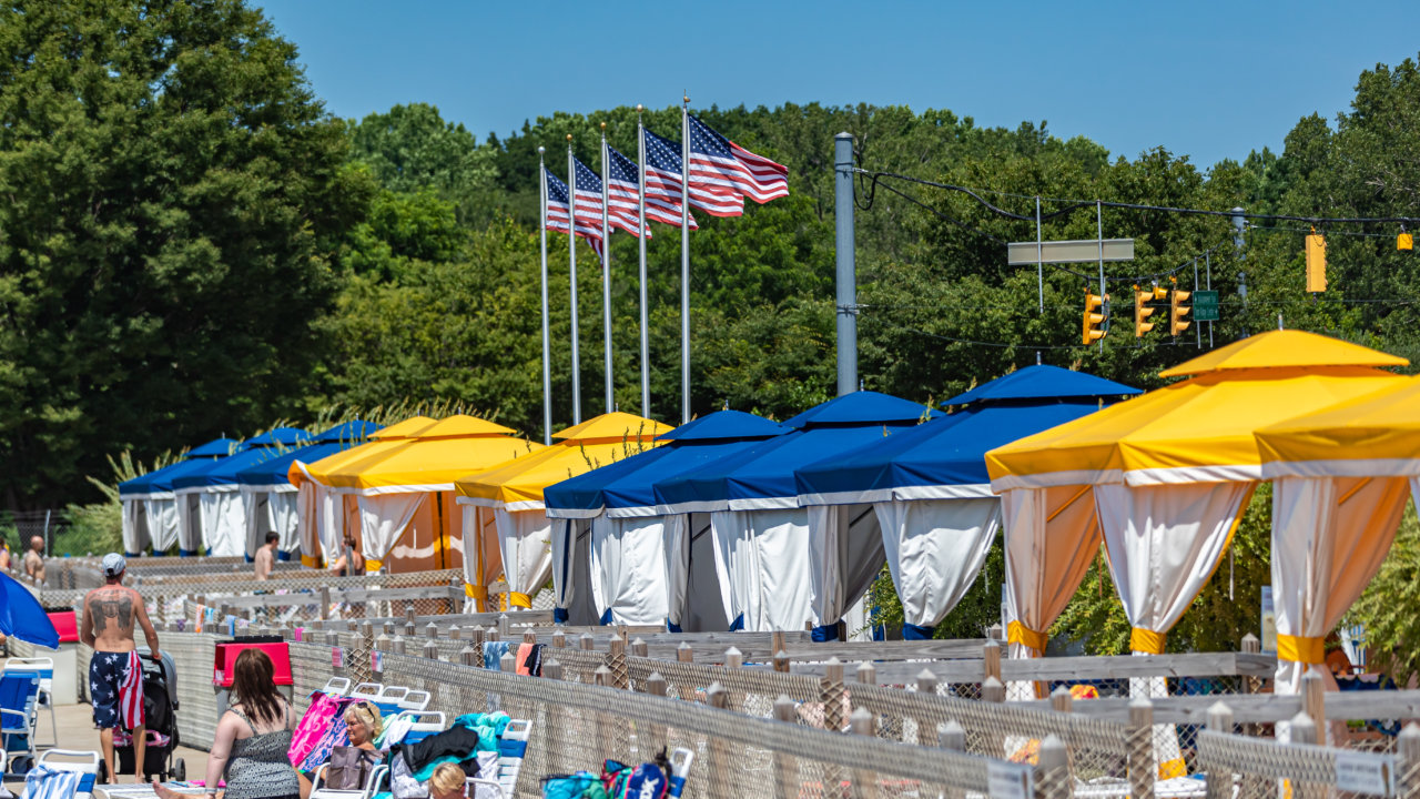 Cabana and Umbrella Rentals at Waldameer
