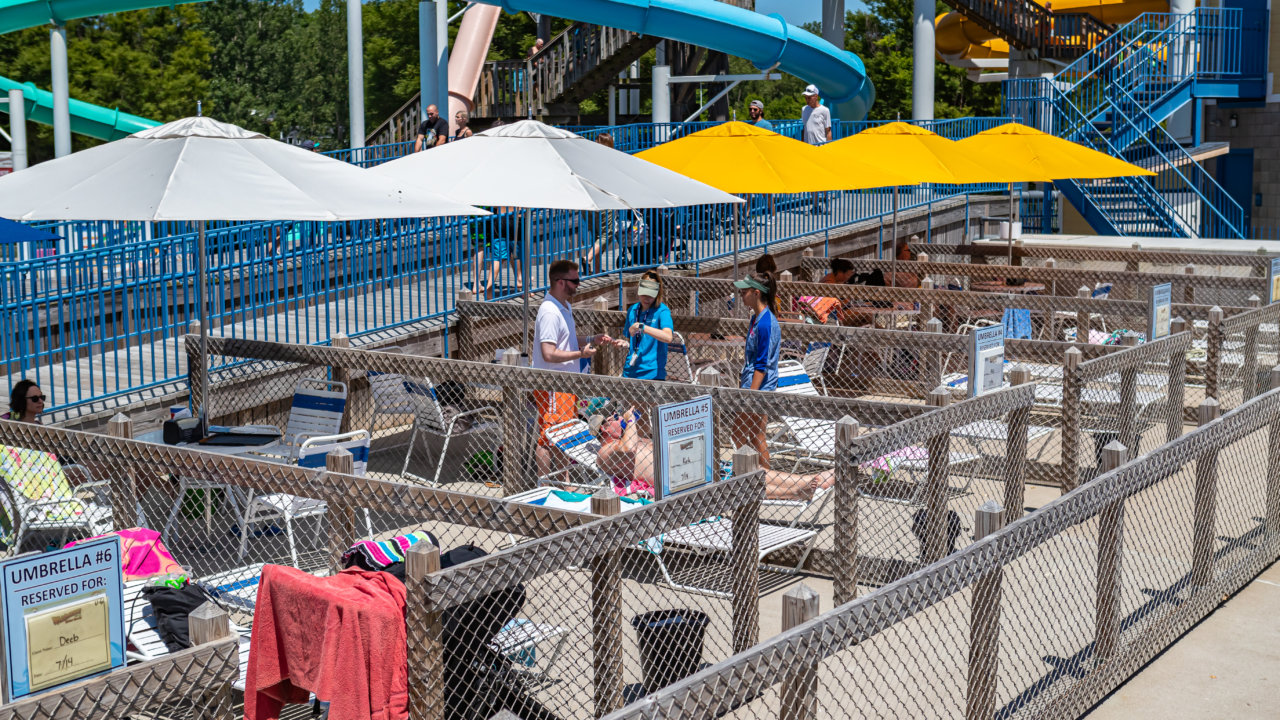Cabana and Umbrellas at Waldameer