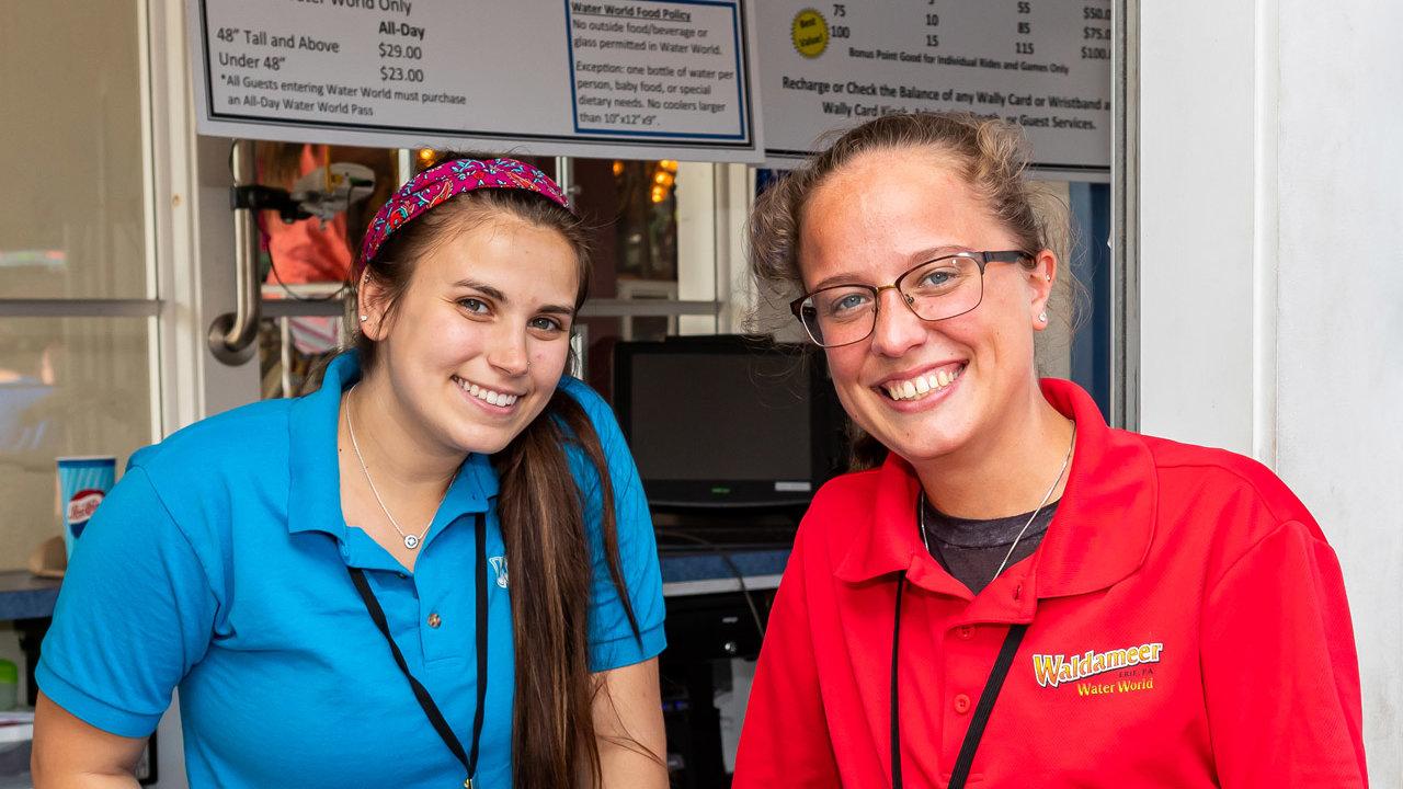 Waldameer employees serving at park